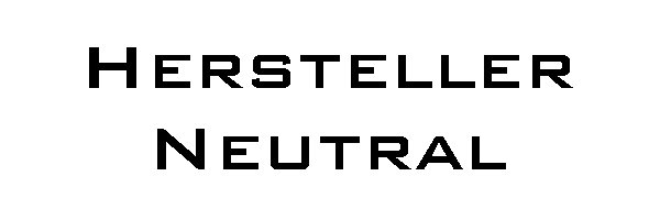 Hersteller Neutral